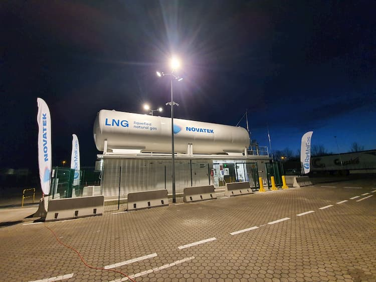 LNG Tankstelle in Rostock